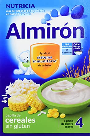 Almirón Papilla de cereales sin gluten a partir de 4 meses - Paquete de 3 x