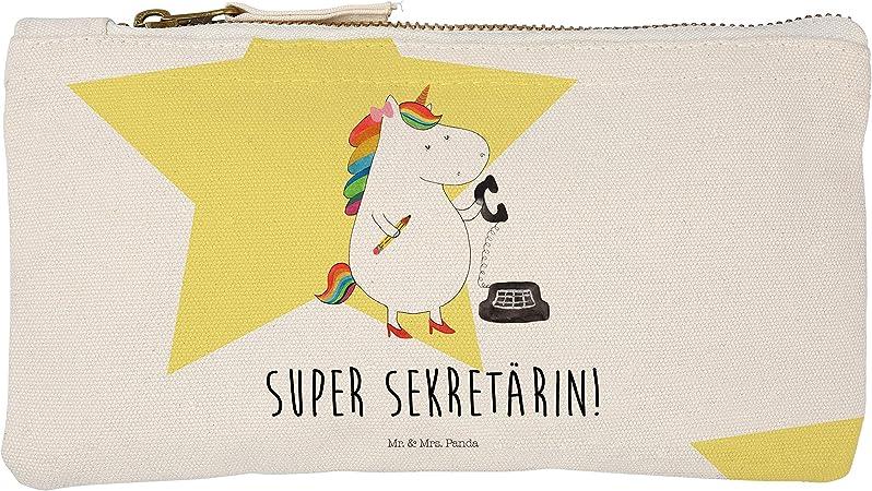 Mr. & Mrs. Panda Funda, Estuche, S Maquillaje Unicornio Secretaria con Alemán – Color Blanco: Amazon.es: Hogar