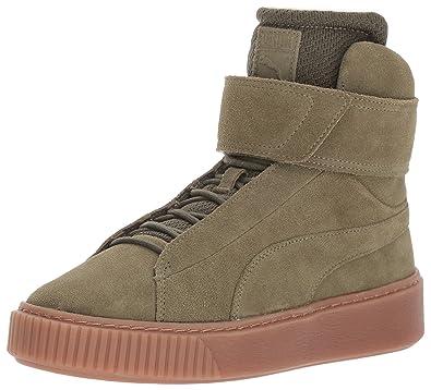 Puma Platform Mid Ow Schuhe Damen Oliv Sneaker