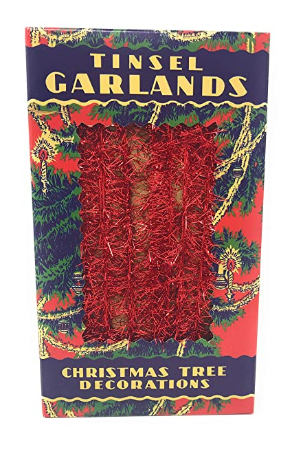 pbk 16426 retro old fashioned vintage antique style tinsel strand garland christmas tree decorationsquot