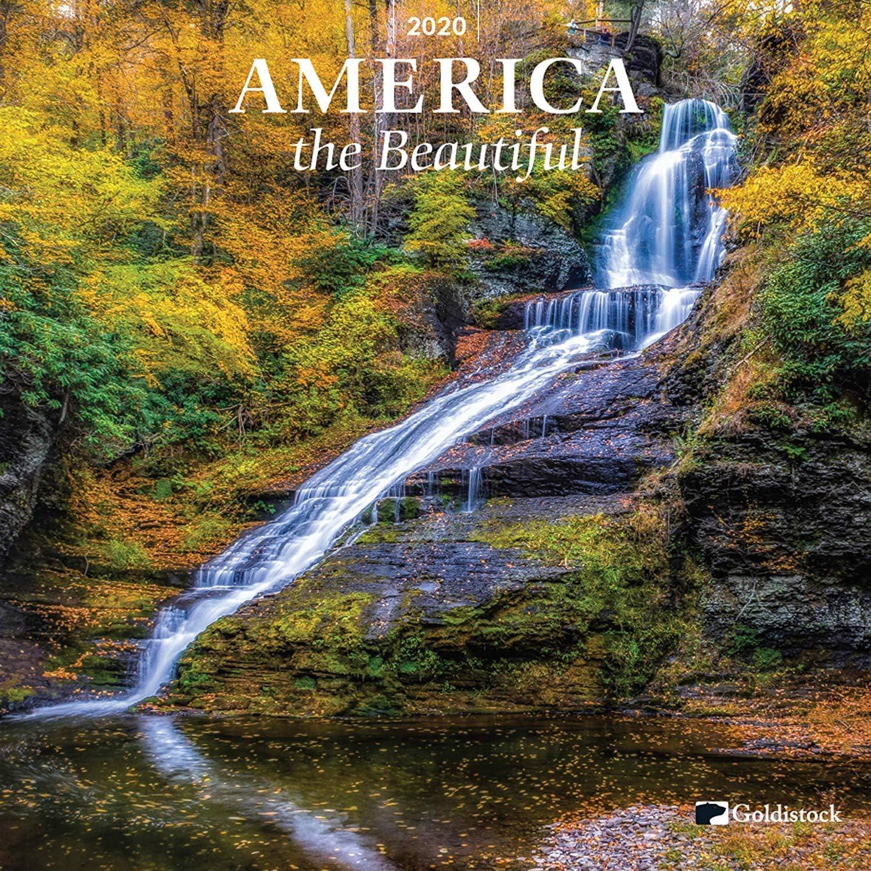 Calendario de pared grande 2020, «America The Beautiful» de Goldistock – 30,5 x 61 cm (abierto) – Papel grueso y resistente – con nuestros parques nacionales y paisajes escénicos americanos: Amazon.es: Oficina y papelería