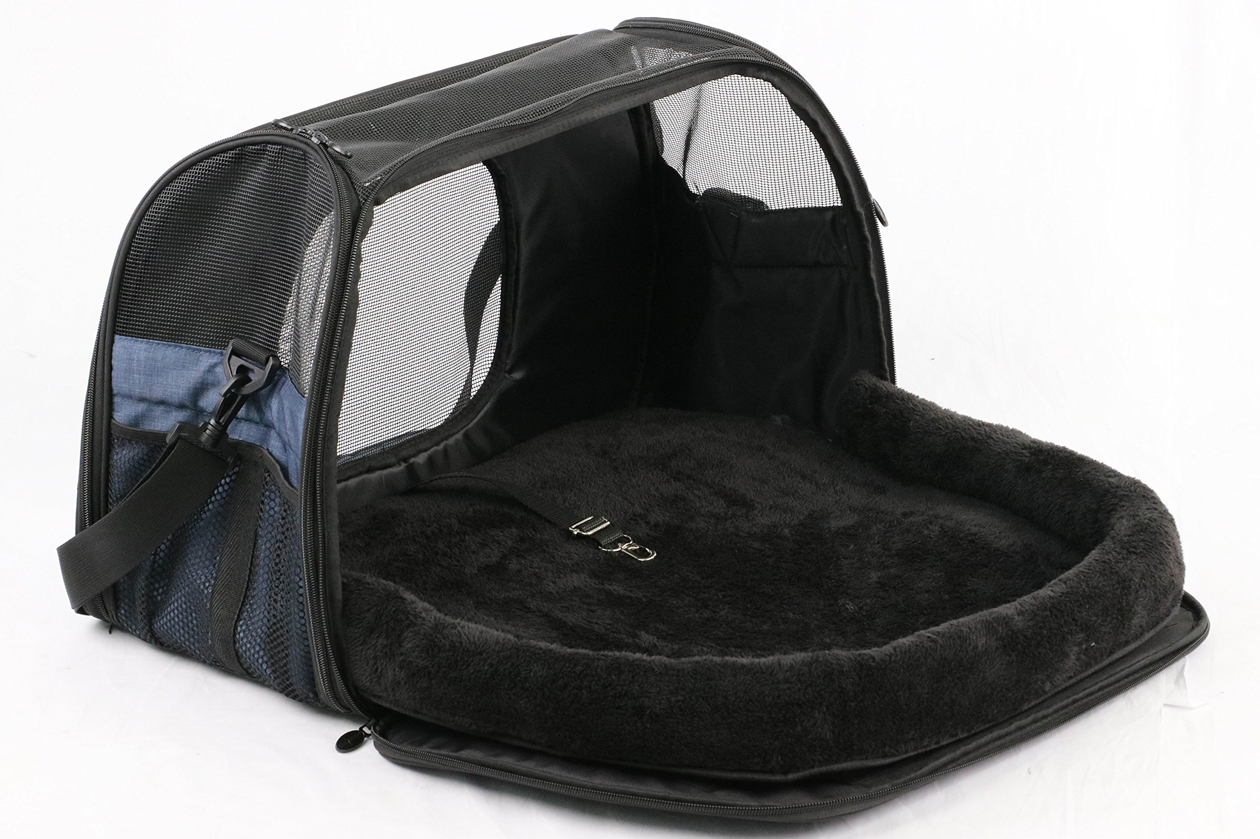 Gen7Pets Carry Me Sleeper Pet Carrier Heather Navy