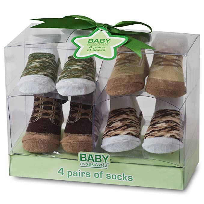 Amazon.com: Bebé Essentials – Calcetines, 4 unidades), 0-6 ...