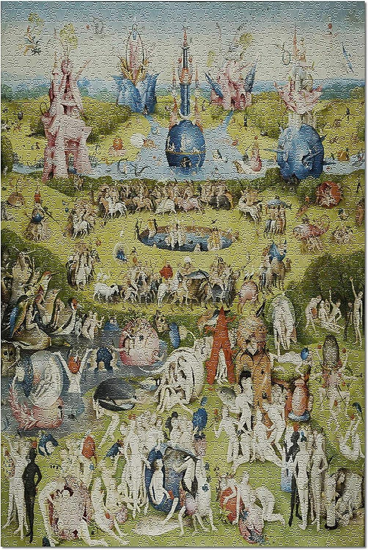 Bernice Winifred El Jardín de Las Delicias - Mapa del Mundo - (Artista: Hieronymus Bosch c. 1480) Obra Maestra Rompecabezas clásico para adultos-500 Piece 15In X 20.5In: Amazon.es: Juguetes y juegos