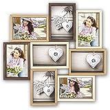 Zep TY087 Montreaux MultiView fotolijst, hout, bruin/ivoorkleur/natuurlijke kleuren, 10 x 15 cm foto's