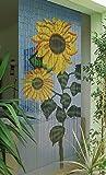 Sunflower Onbekend bamboegordijn, bamboegordijn, deurgordijn, ca. 90 x 200 cm.