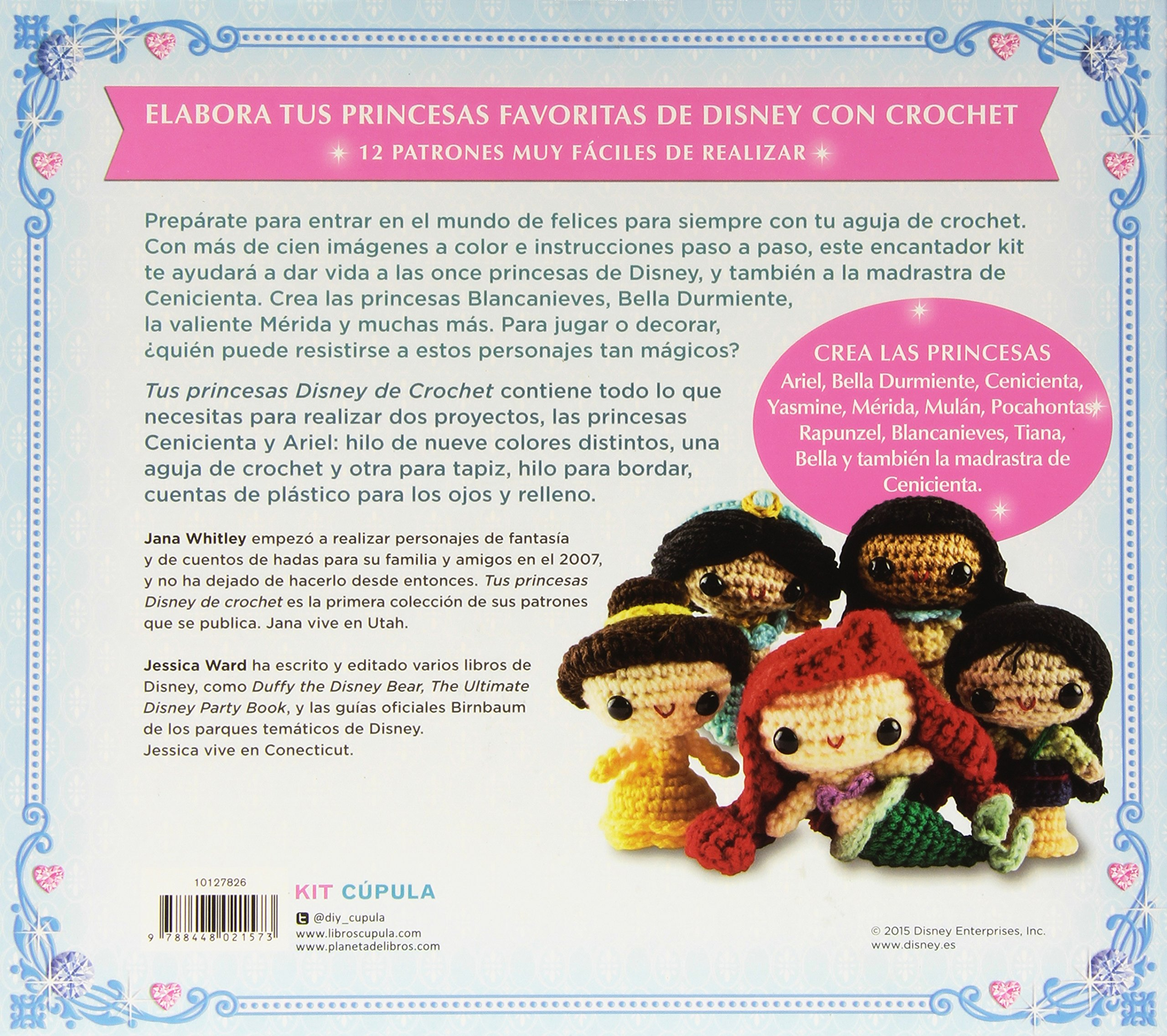 Kit Tus princesas Disney de crochet (Manualidades): Amazon.es ...