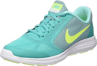 Nike Revolution 3 (GS), Zapatillas de Running para Mujer, Verde (Clear Jade/Volt-Hyper Turq-White), 36 1/2 EU: Amazon.es: Zapatos y complementos