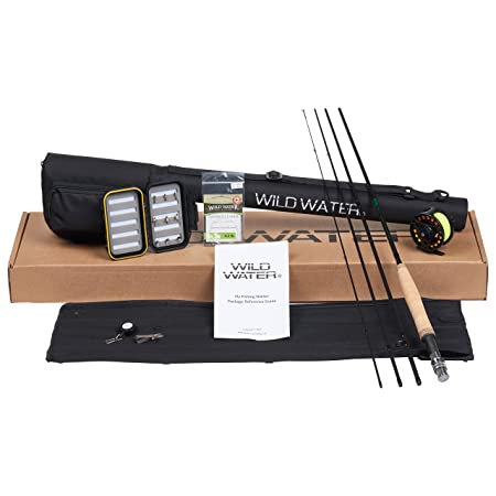 Wild Water Fly Fishing Rod and Reel Combo 4 Piece Fly Rod 3 4 9 Complete Starter Package