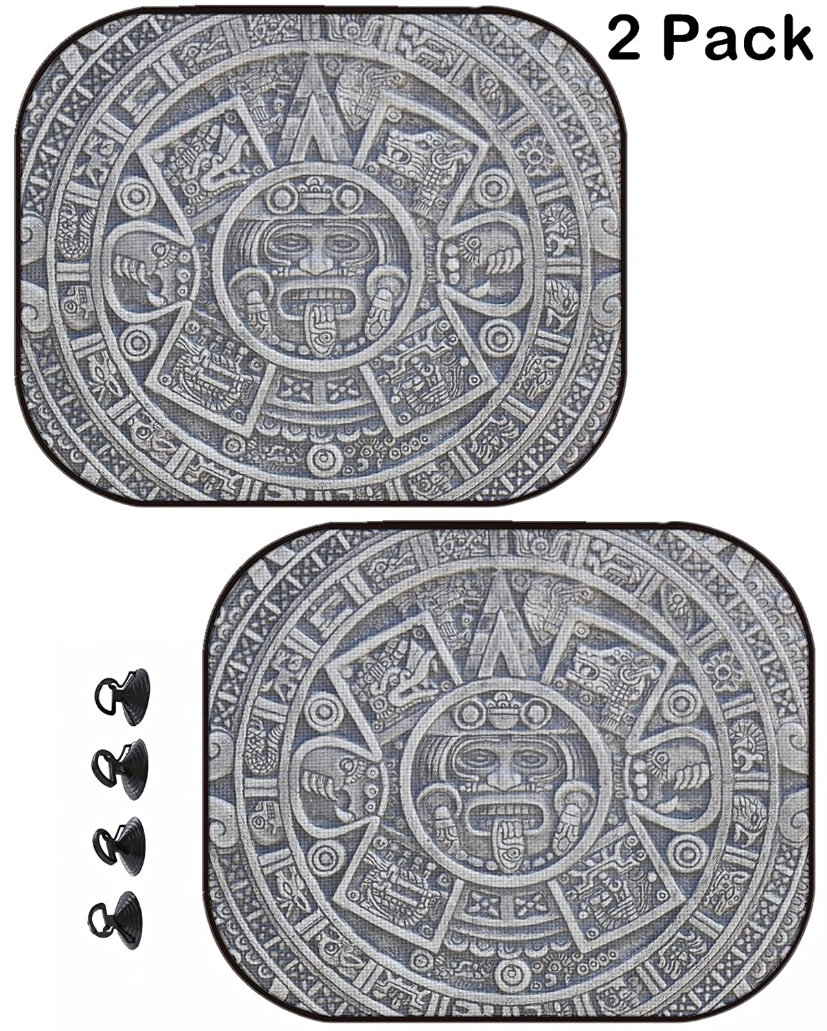 MSD Car Sun Shade Protector Side Window Block Damaging UV Rays Sunlight Heat for All Vehicles, 2 Pack Image ID 34606955 Aztec History Texture as Nice Stone Background