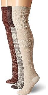2fc12f2a86d Muk Luks Women s Knee High Microfiber Pattern Socks