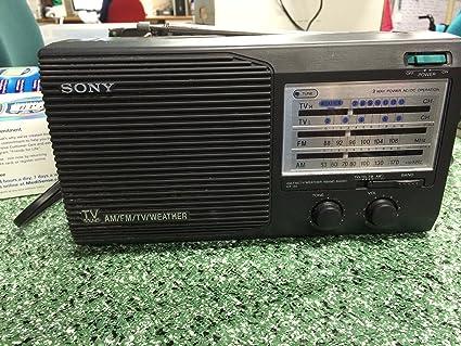 Sony Icf-34 - Radio de 4 Bandas para televisores: Amazon.es ...
