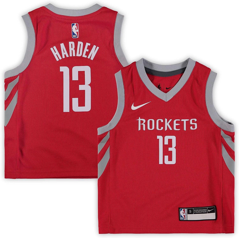 Nike James Harden Houston Rockets NBA Kids 4-7 Red Road Icon Edition Replica Jersey
