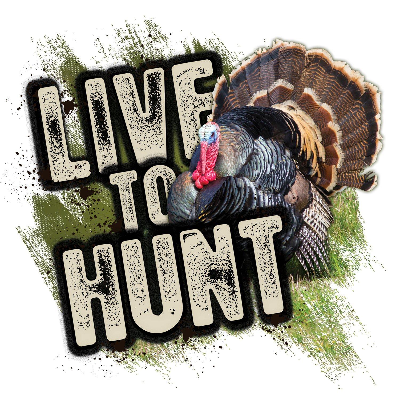 Mossy Oak Graphics 13019-S-TK Live to Hunt Turkey Decal