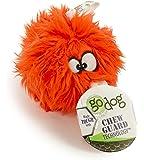 goDog Furballz Tough Plush Dog Toy with Chew Guard Technology Orange Small