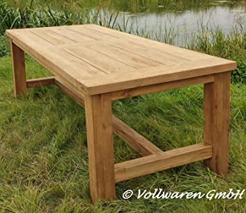 Teak Gartentisch Tyrion 250x100cm Teakholz Antik Massiv Tisch