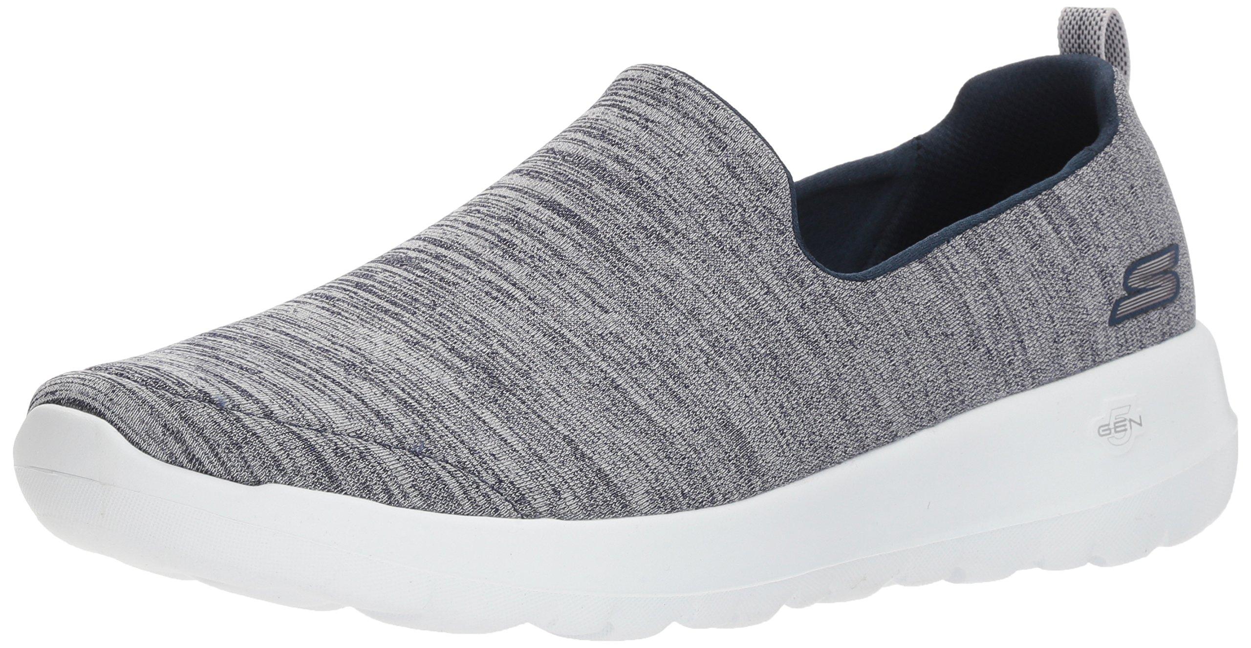 Skechers Women's Go Walk Joy-15611 Sneaker, Navy/White, 7 M US