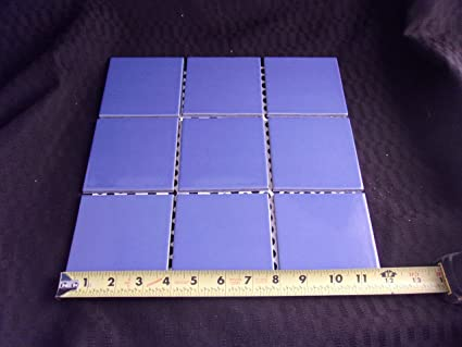 About X Ceramic Tile Sunset Blue Brite Summitville - Cobalt blue ceramic tile 4x4