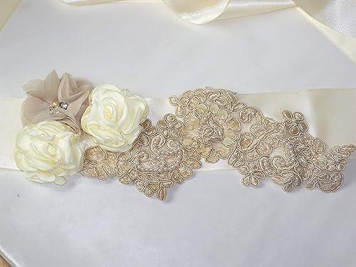 Handmade Long Rhinestones Bridal Belt Wedding Ribbon Sash Dress Accessories