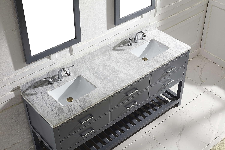 Virtu MD-2272-WMSQ-GR Caroline Estate Double Bathroom Vanity Cabinet ...
