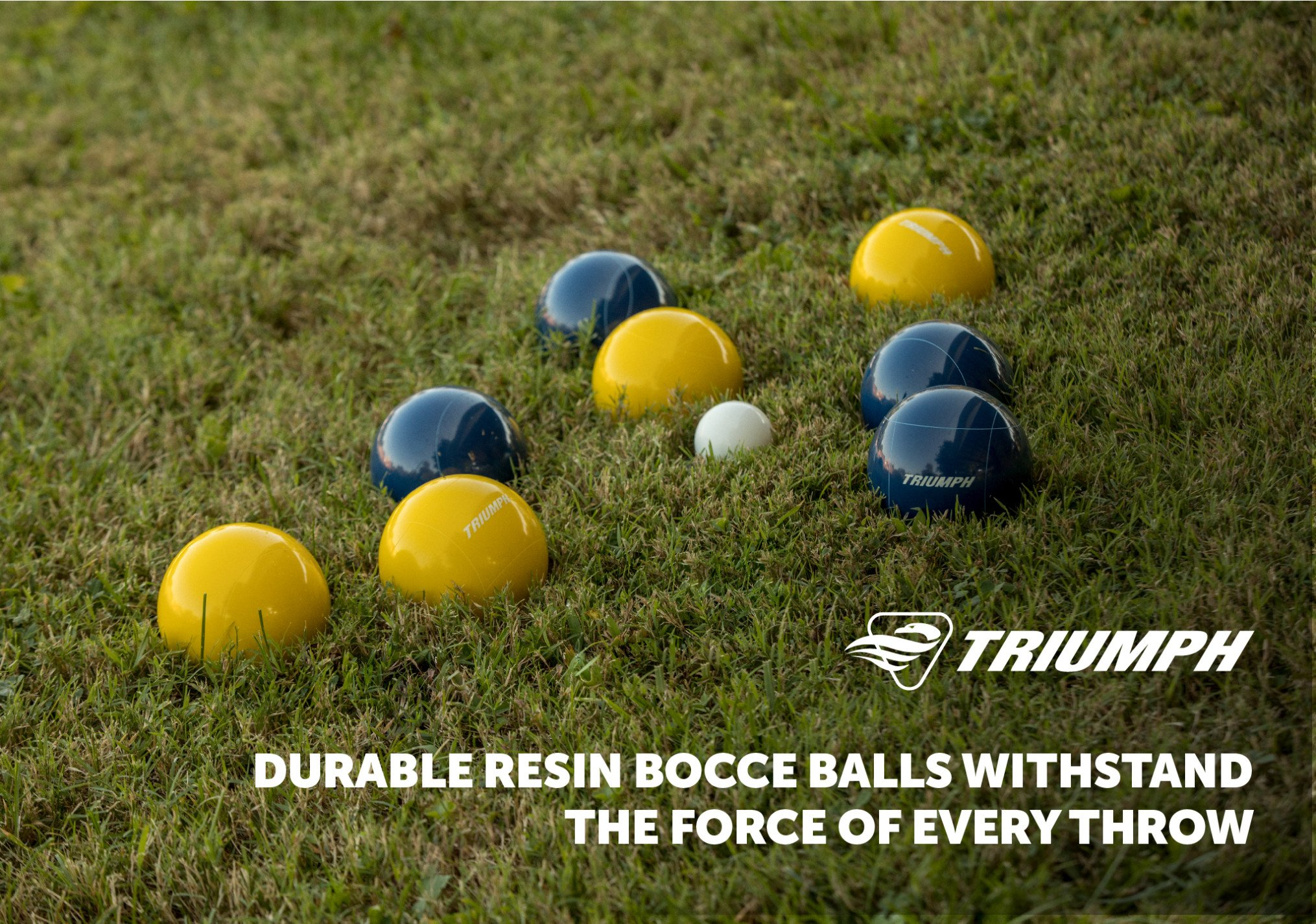 Triumph All Pro 100mm Bocce Set Includes Eight Bocce Balls, One 50mm Jack, and Carry Bag by Triumph Sports (Image #5)