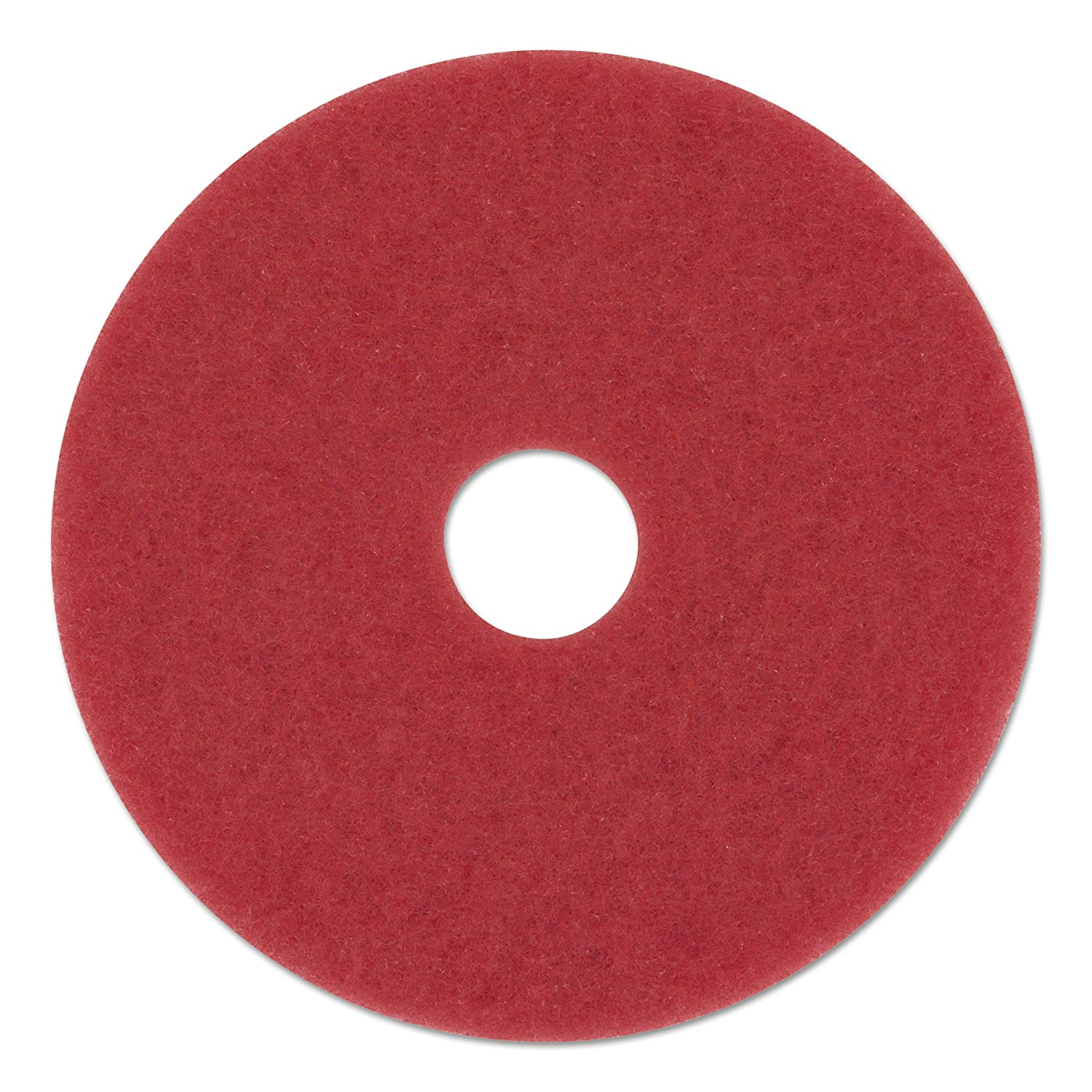 """Daily Cleaning and Spray Buffing 16/"""" Red Floor Scrubbing Buffer Pads Box of 5"""