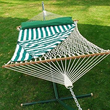 cotton rope hammock w pad  u0026 pillow set amazon     13 ft  cotton rope hammock w pad  u0026 pillow set      rh   amazon