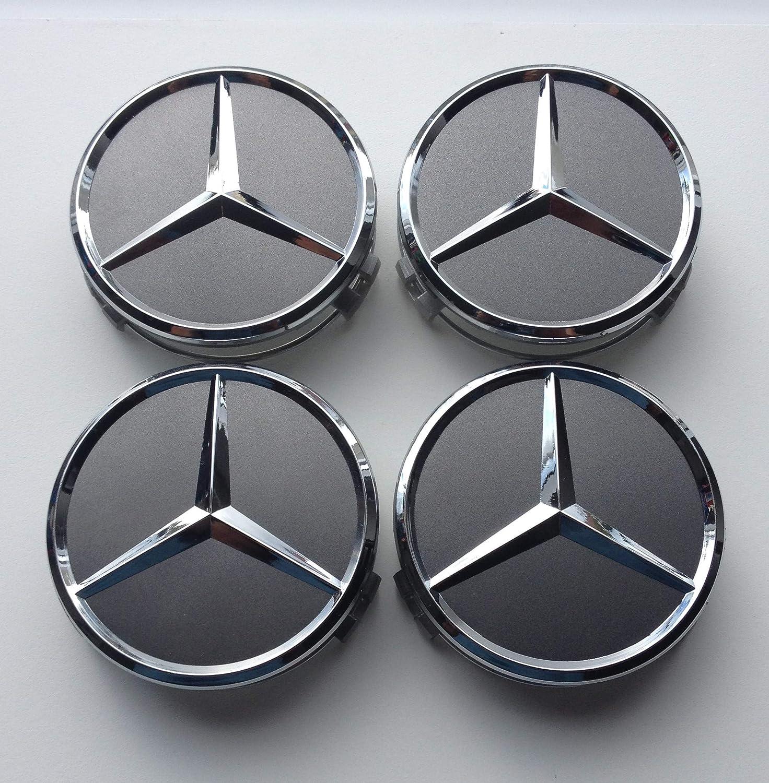 Radnabendeckel Mercedes AMG Silber 75 mm