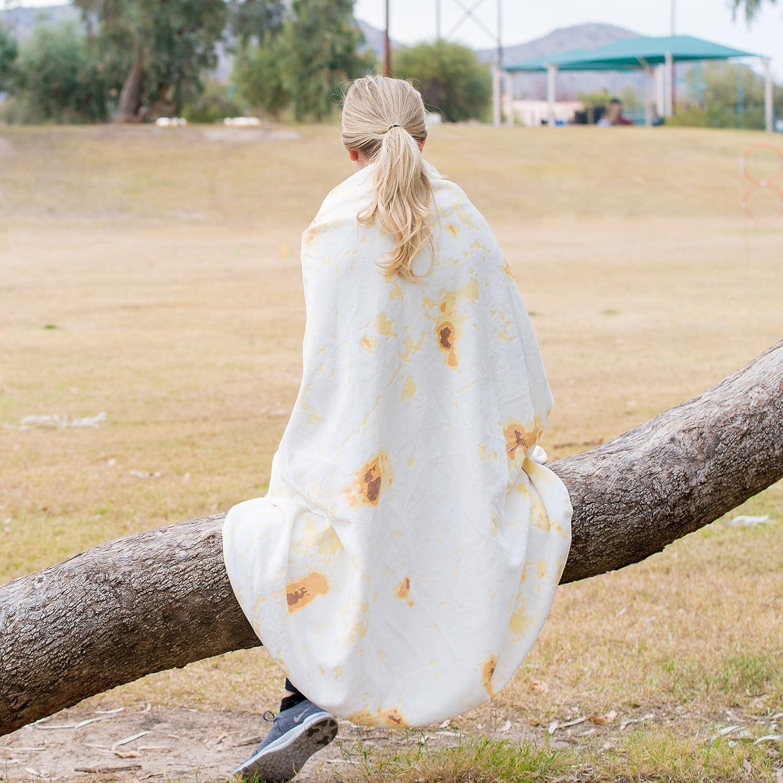 Tortilla or Taco Be a Giant Human Burrito Soft Plush Giant Round Beach Towel for Kids or Adults FBA/_ZEN-003BB Zen Life Burrito Blanket