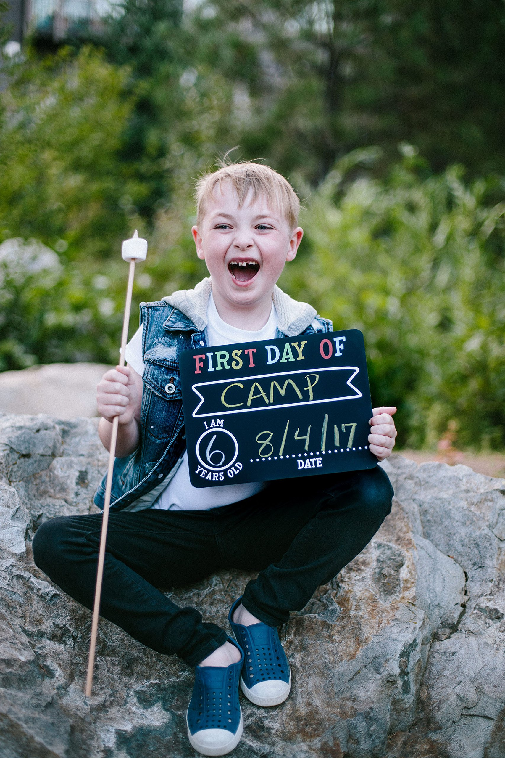 Pearhead First and Last Day of School Photo Sharing Chalkboard Signs; The Perfect Back to School Chalkboard Sign to Commemorate The First Day of School, Set of 2 by Pearhead (Image #7)