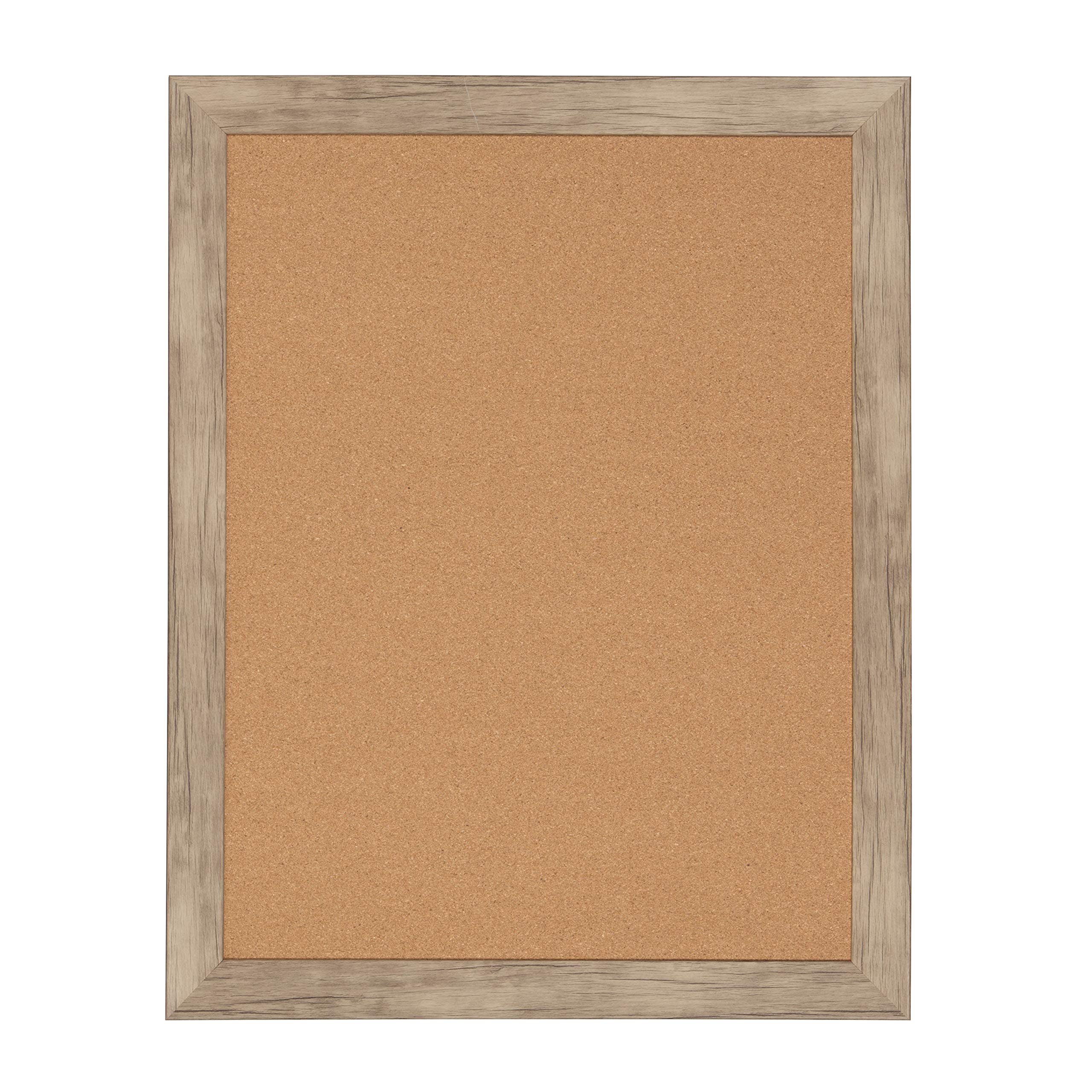 DesignOvation Beatrice Framed Corkboard, 23x29, Rustic Brown