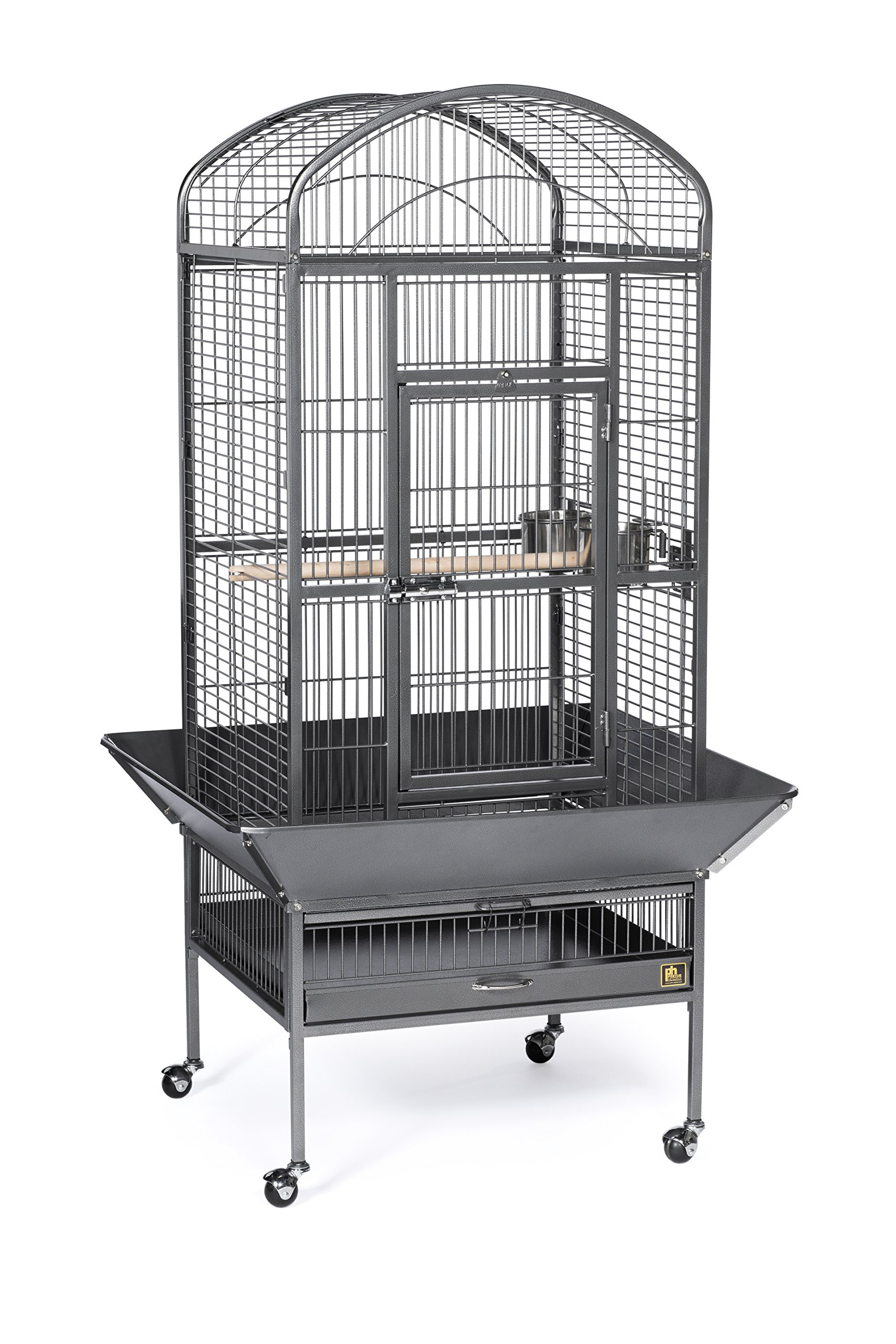 Prevue Pet Products 34521 Dometop Bird Cage, Large, Black Hammertone