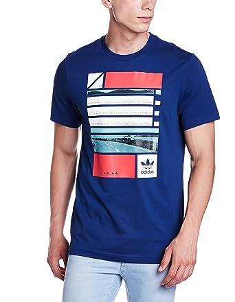 adidas originals herren t-shirt blau