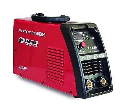 Stayer Welding - Potenza 200 Inverter Mma Soldadura Por Electrodo Potenza 60% 200A 5Mm 6Kg