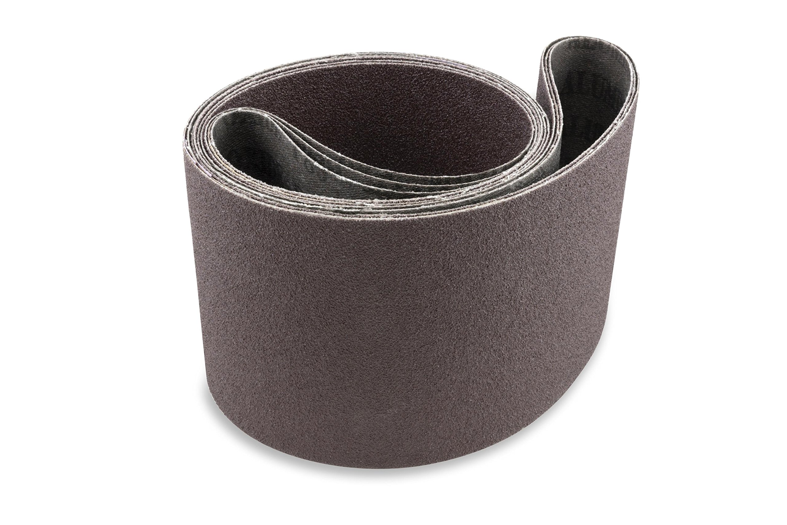 6 X 80 Inch 220 Grit Aluminum Oxide Premium Quality Multipurpose Sanding Belts, 2 Pack by Red Label Abrasives