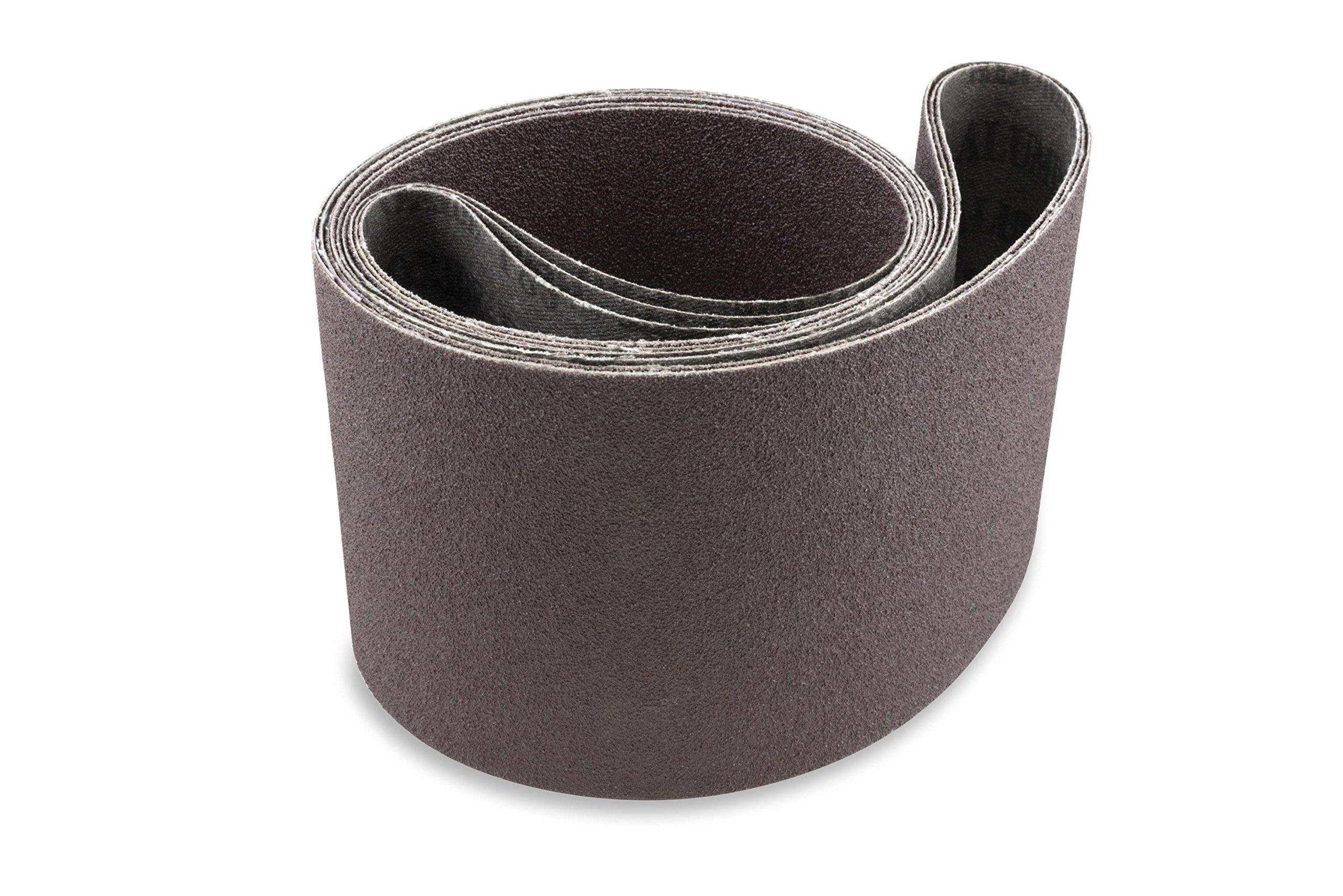 6 X 89 inch 80 Grit Aluminum Oxide Multipurpose Sanding Belts, 2 Pack