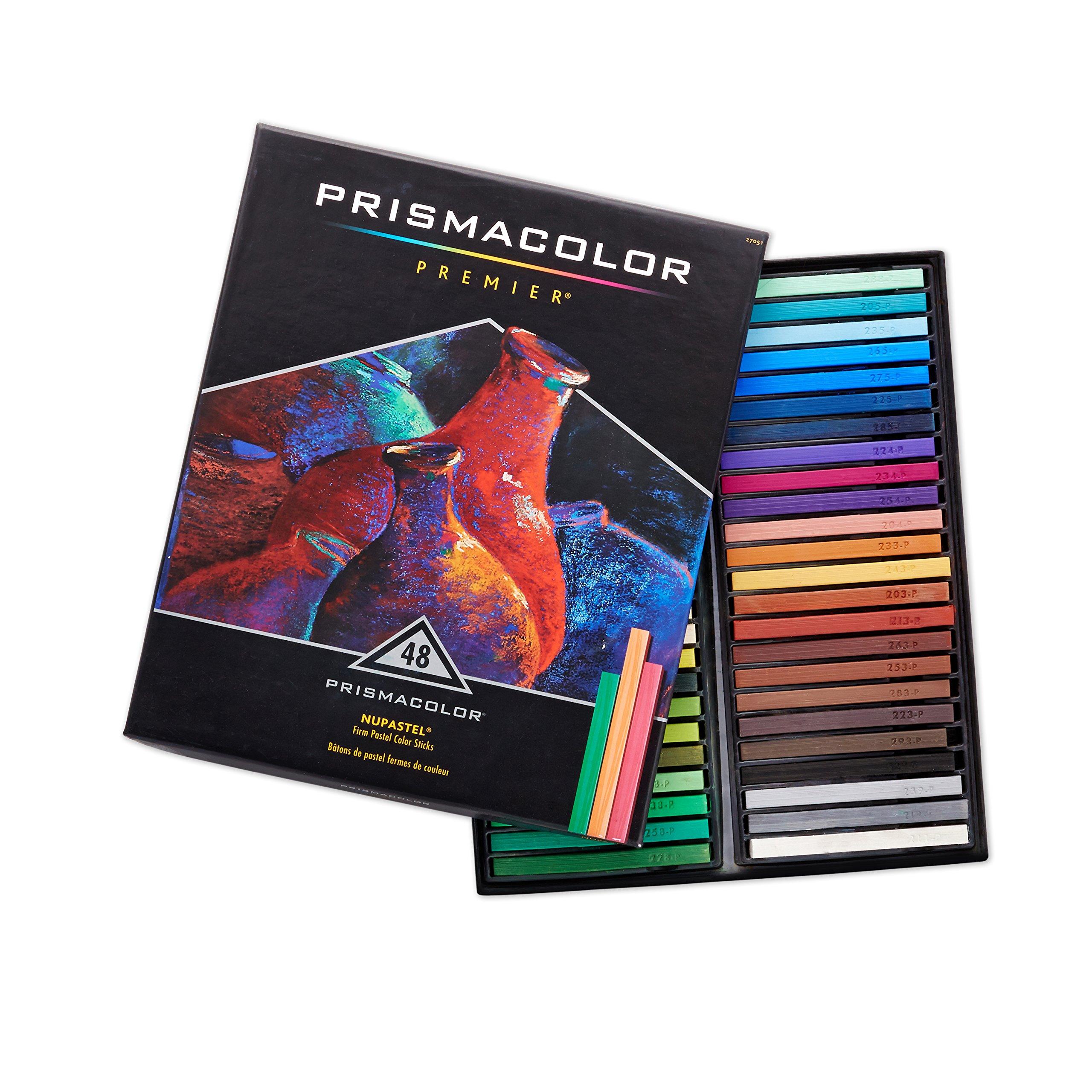 Prismacolor 27051 Premier NuPastel Firm Pastel Color Sticks, Box of 48 Color Sticks by Prismacolor