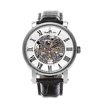 72c491e44c Lindberg & Sons - SK14H017 - Montre Homme - Automatique Analogique - Cadran  Blanc - Bracelet