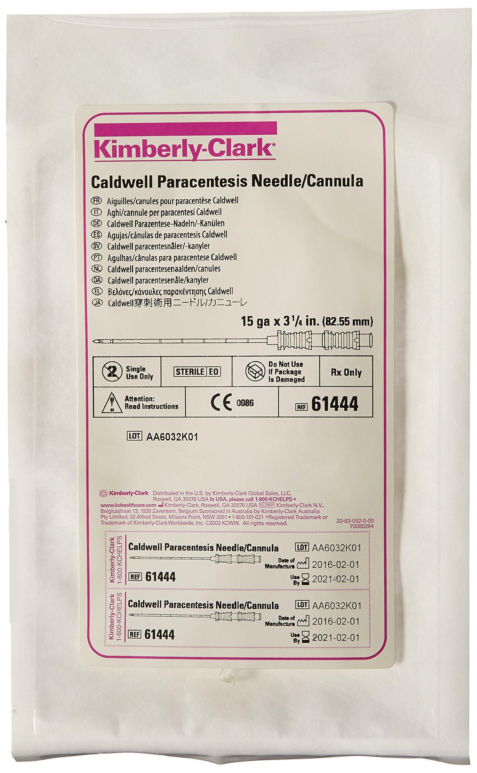 Halyard Health 61444 Paracentesis Caldwell Cannula, 3.25'' Length, 15 Gauge (Pack of 5)
