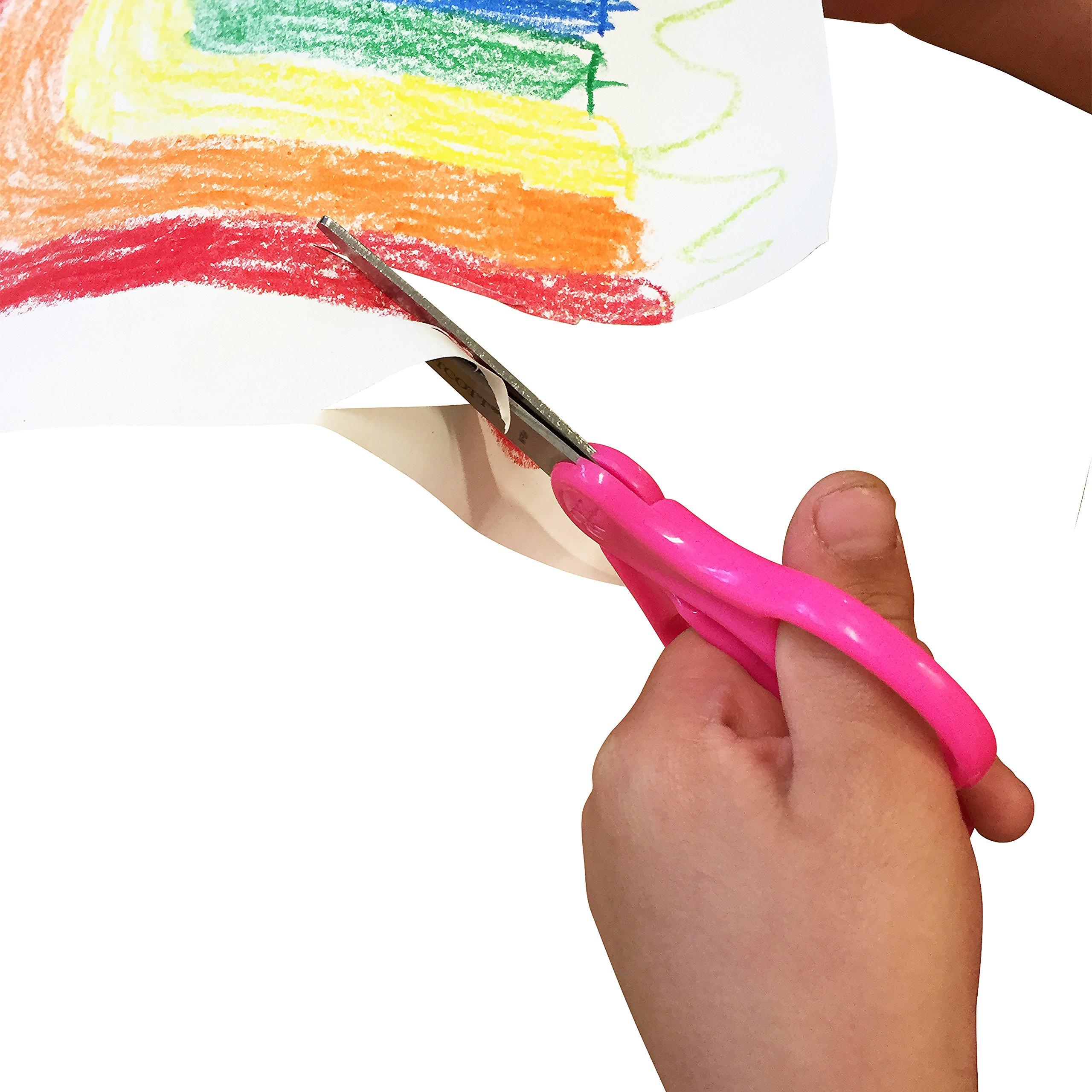 "Westcott School Left and Right Handed Kids 5"" Scissors, Blunt, 6 Pack (16454)"