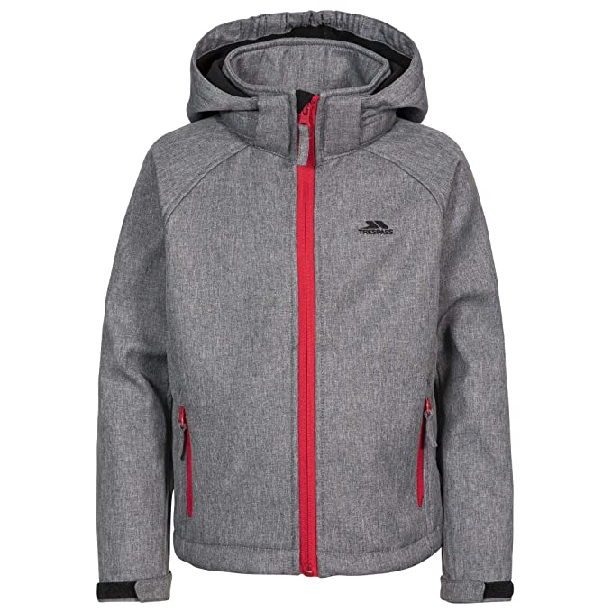 c0038e5386 Trespass Childrens Boys Tommaso Softshell Jacket (7 8 Years) (Storm Grey  Textured