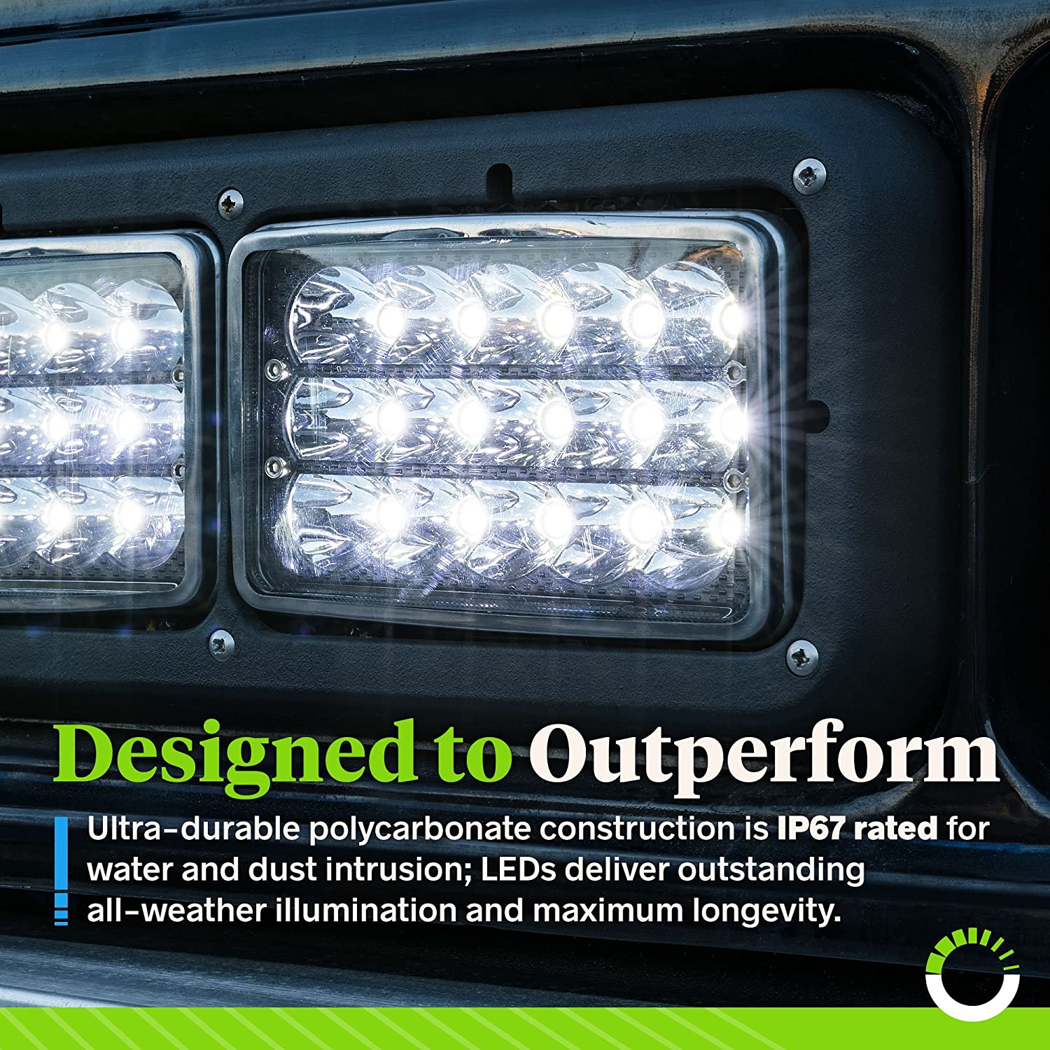 4pc Universal 4x6 45W LED Rectangular Sealed Beam Headlight Assembly with Black Housing High//Low Beam - for Jeep Wrangler /& More IP67 H4 Socket H4651 H4652 H4656 H4666 H6545 Replacement