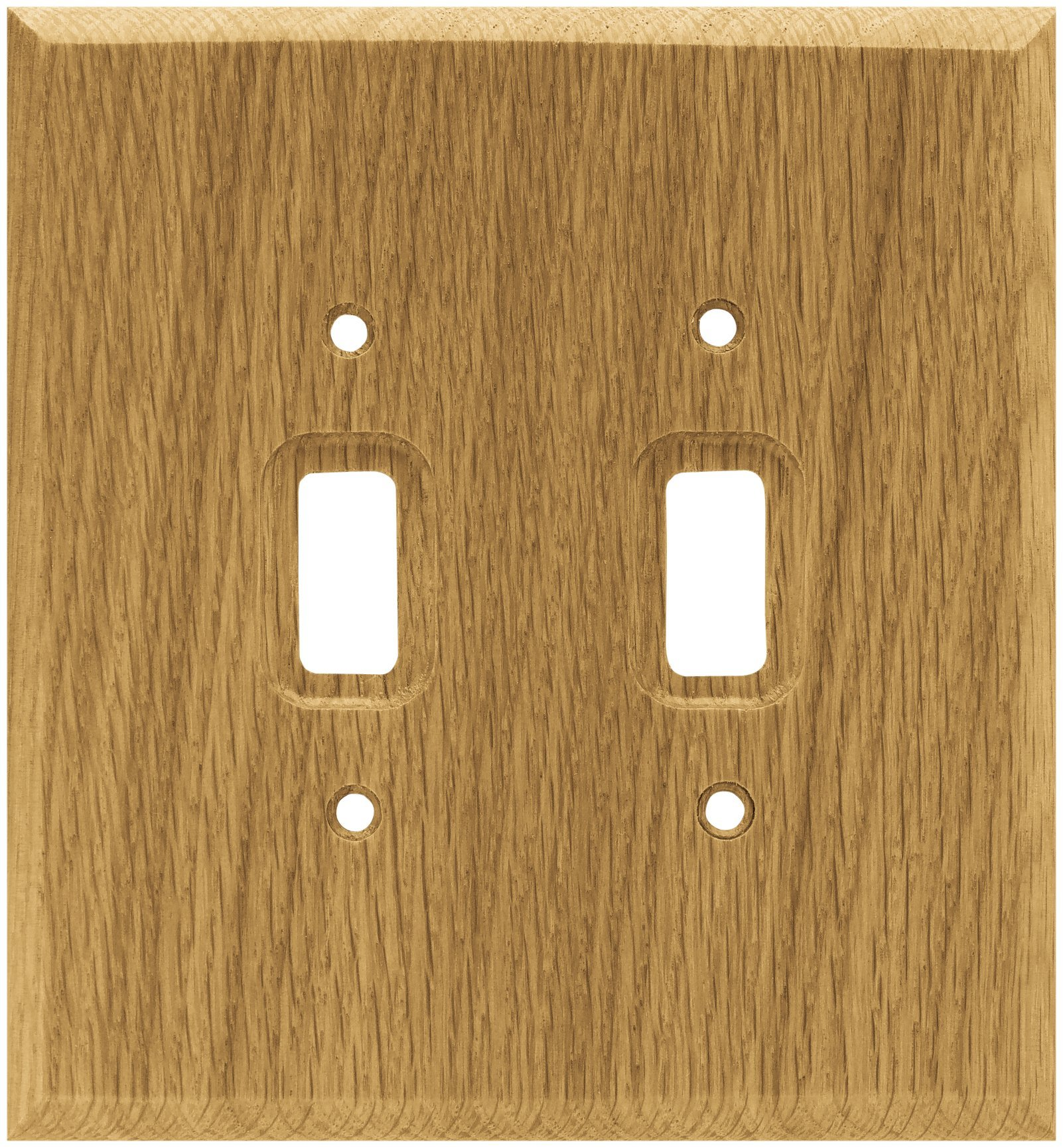 Brainerd 64658 Wood Square Double Switch Wall Plate / Switch Plate / Cover, Medium Oak