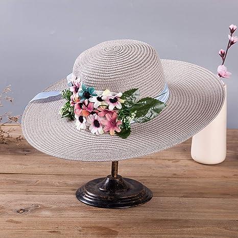 2018 Winter New Children s hat,Big Along The Straw hat Flowers Along The Straw  hat 0df4d051c44b