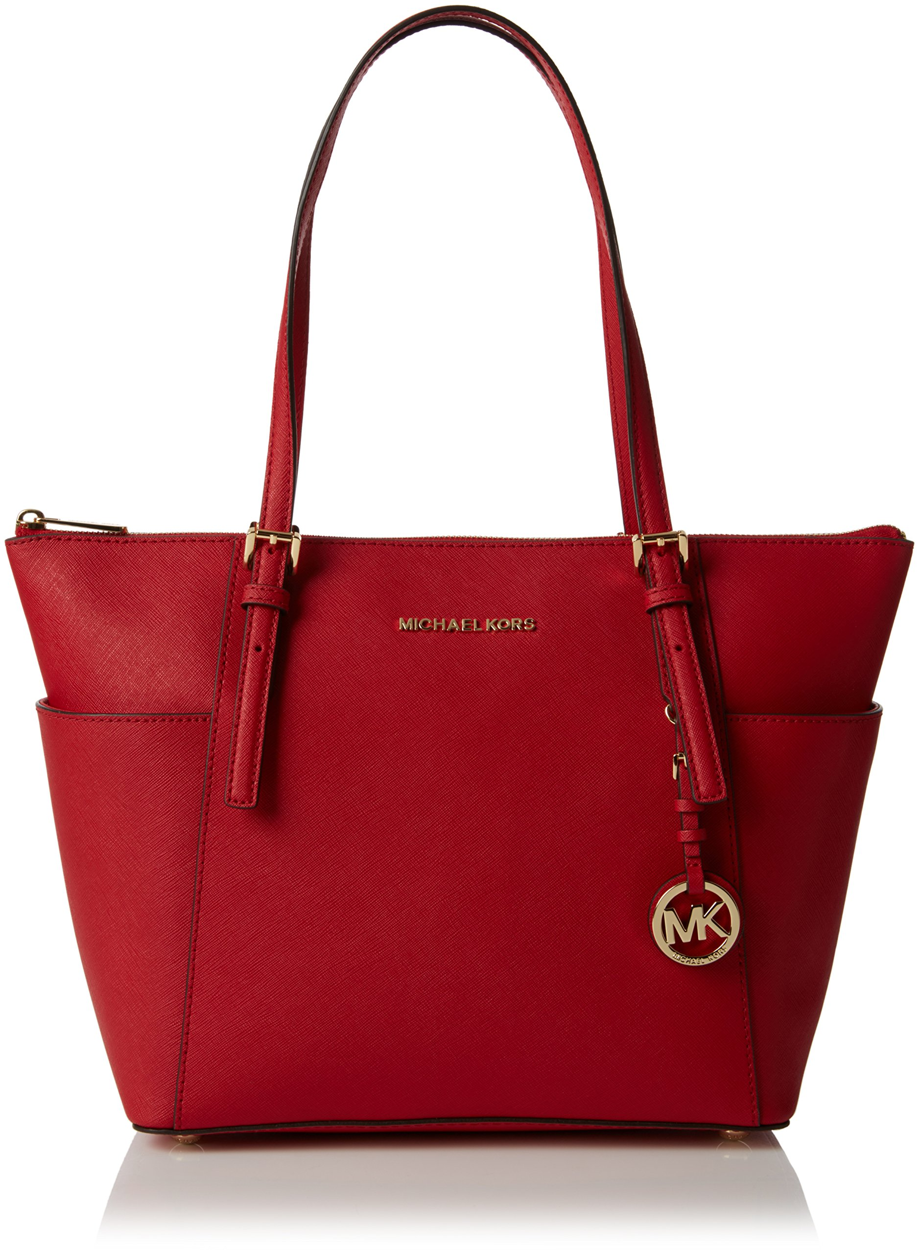cc17720fce27 Galleon - MICHAEL Michael Kors Jet Set Top-Zip Tote (Bright Red)