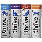 Thrive Cat Treats - Assorted Chicken, White Fish, Tuna & Chicken Liver,(Pack of 4)