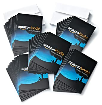 Amazon 5 Gift Cards Pack Of 50 With Greeting Kindle