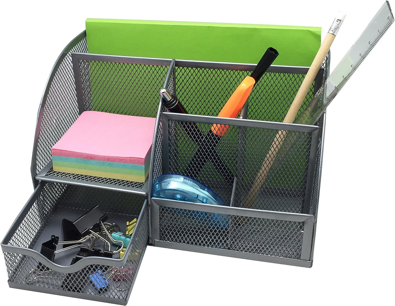 Home-Neat portapenne da ufficio organizer in rete metallica per materiale di cancelleria