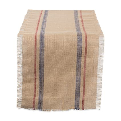 DII Natural Jute Burlap Table Runner for Dining Room, Foyer Table, Spring Parties and Everyday Use - 14x108
