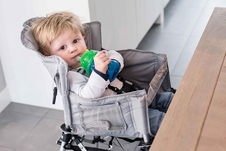 FemStar One2Stay P71846-cmf-dt Confort Chaise Haute de Voyage Lima Comprend Salle /à Manger Plateau/ 2/pi/èces /Argent m/étallique